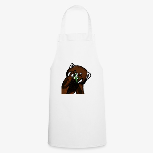 Cute red panda with Bamboo Wildlife T-Shirt - Cooking Apron