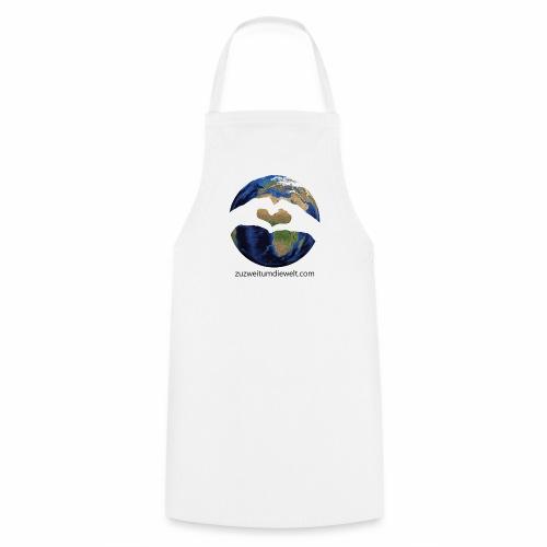 Zu zweit um die Welt: Logo mit Schriftzug - Kochschürze