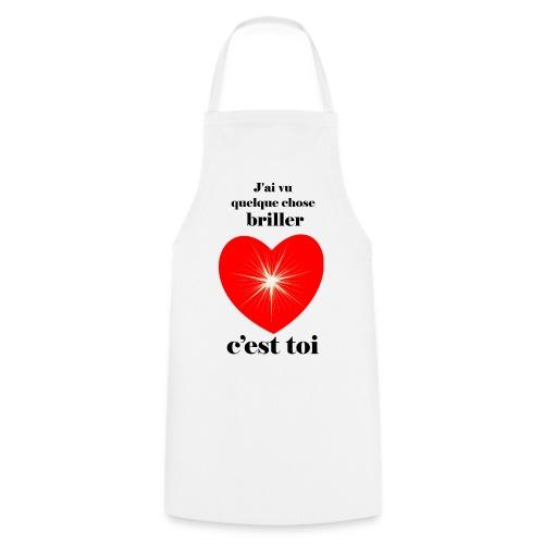 Coeur brillant ...amoureux ou inspiré FC - Tablier de cuisine