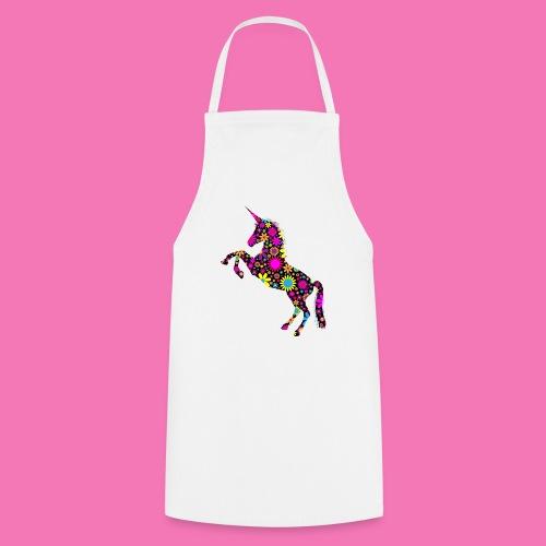 Floral Unicorn Silhouette - Kochschürze