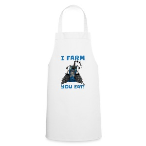 I farm you eat blauw - Keukenschort