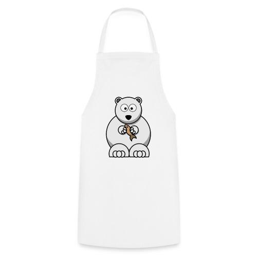 ours blanc - Tablier de cuisine