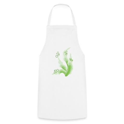 grüne Aquarellpinsel - Kochschürze