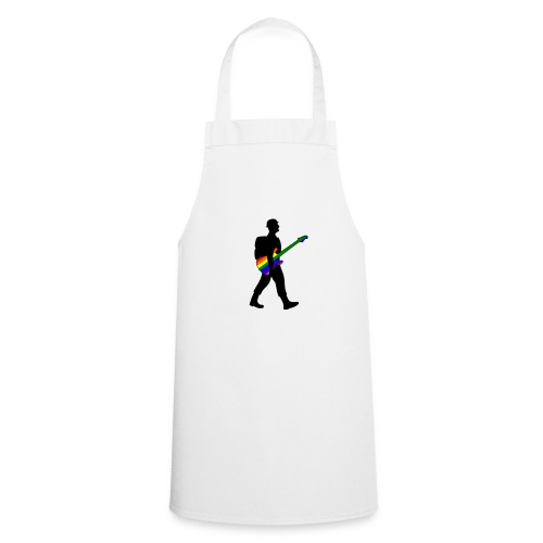 Soldier with a pride guitar - Cooking Apron