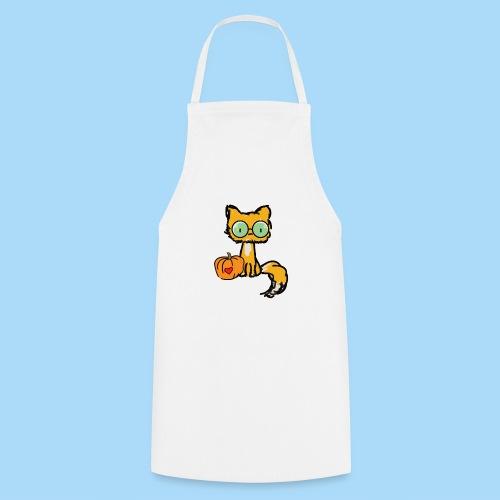 Katze Kürbis Halloween Herbst Orange - Kochschürze