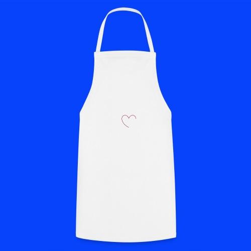 t-shirt bianca con cuore - Grembiule da cucina