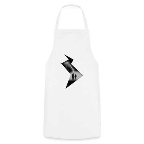 t shirt coup de foudre noir et blanc amour love - Tablier de cuisine