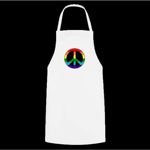 Gay pride peace symbool in regenboog kleuren - Keukenschort