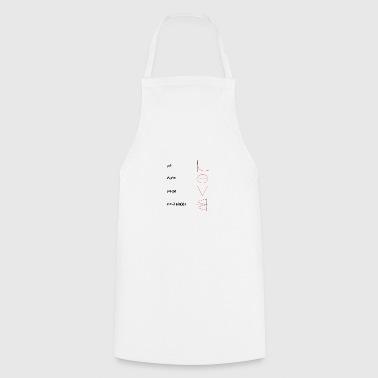 matematyka miłość - Fartuch kuchenny
