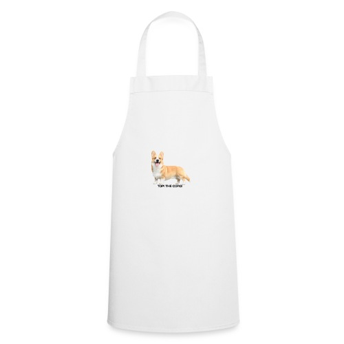 Topi the Corgi - Black text - Cooking Apron