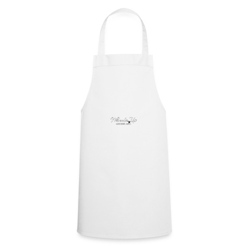 wheels up black figure - Cooking Apron