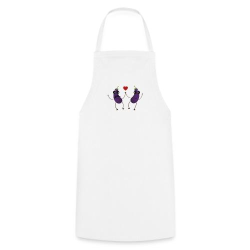 Aubergines qui s'aiment - Tablier de cuisine