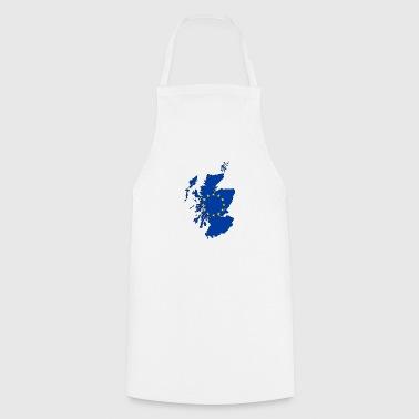 Scotland Map with EU Flag - Cooking Apron