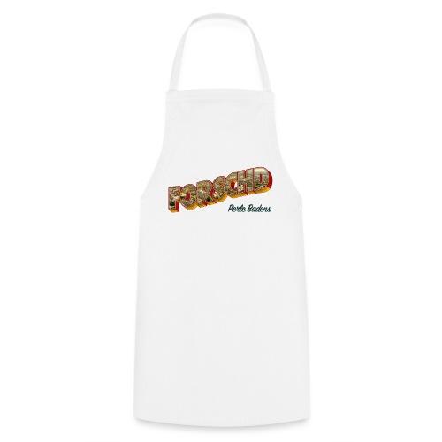 Forschd - Perle Badens - Vintage-Logo mit Luftbild - Kochschürze