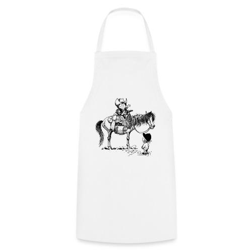 Thelwell Cartoon Cowboy mit seinem Pony - Kochschürze