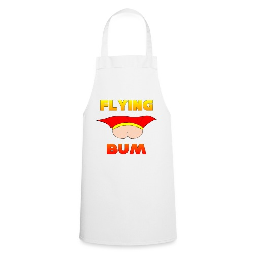 Flying Bum (face on) with text - Cooking Apron