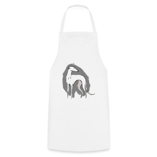 Weißer Windhund - Kochschürze