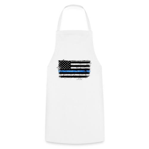 police back the blue flag - Delantal de cocina