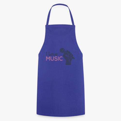 Amo la música - Delantal de cocina