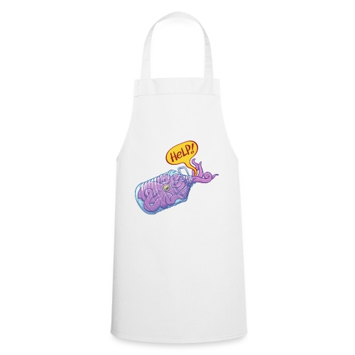 Octopus inside plastic bottle asking for help - Cooking Apron