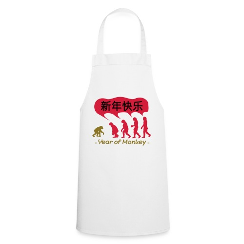 kung hei fat choi monkey - Cooking Apron