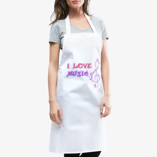 Love Music - Delantal de cocina
