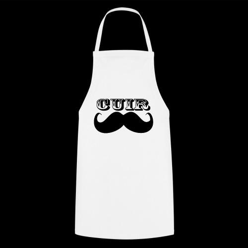 Cuir Moustache - Logo Noir - Cooking Apron