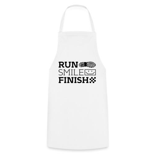 Run Smile Finish Marathon-Motto - Kochschürze