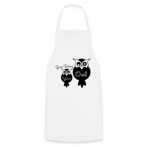 Give Today Your Owl schwarz - Kochschürze