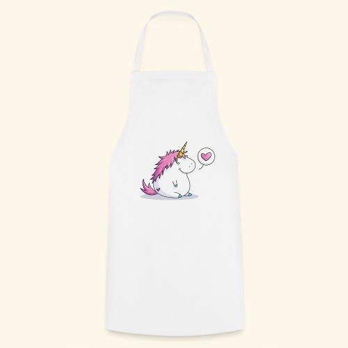 Fat Unicorn with Heart - Kochschürze