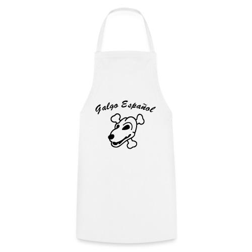 Galgo Kopf und Schrift - Kochschürze