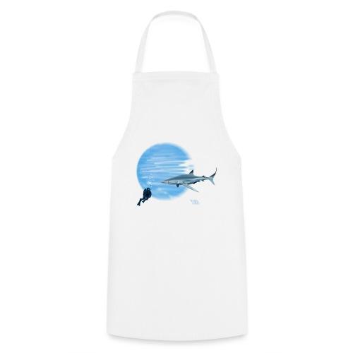 Grand requin et plongeur - Tablier de cuisine