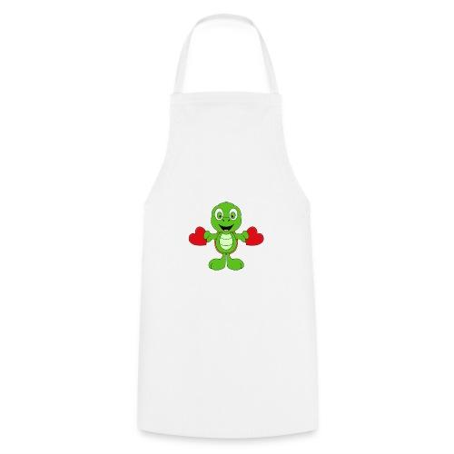 Lustige Schildkröte - Turtle - Herzen - Liebe - Kochschürze