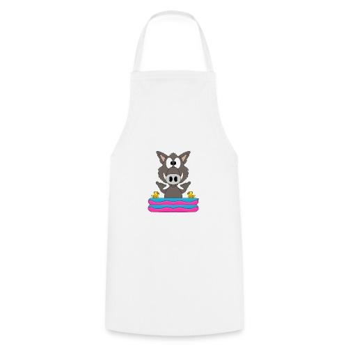 Lustiges Wildschwein - Planschbecken - Shaka - Fun - Kochschürze