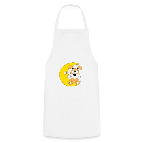 Lustiger Hund - Dog - Knochen - Mond - Tier - Kochschürze