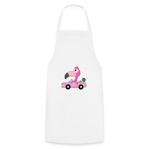 Lustiger Flamingo - Auto - Weltenbummler - Reise - Kochschürze