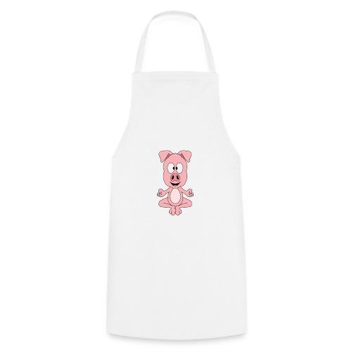 Lustiges Schwein - Yoga - Chill - Relax - Tier - Kochschürze