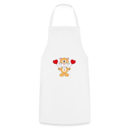 Lustiger Hamster - Herzen - Luftballons - Liebe - Kochschürze