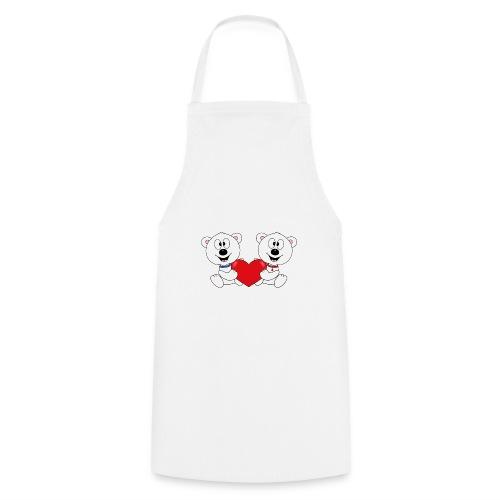 Lustige Eisbären - Herz - Liebe - Love - Fun - Kochschürze