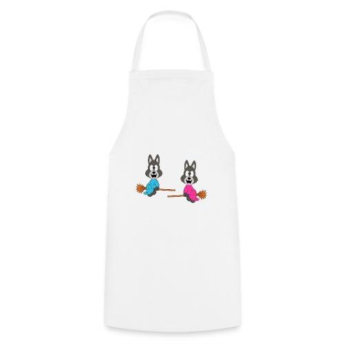 Wölfe - Hexenbesen - Kind - Baby - Tier - Fun - Kochschürze