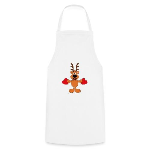 Reh - Wild - Jäger - Herzen - Liebe - Love - Tier - Kochschürze