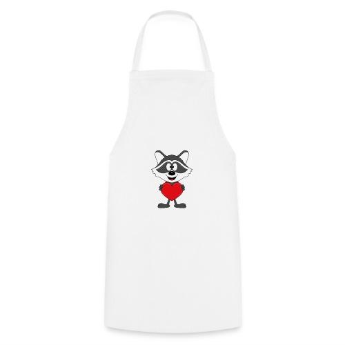 Waschbär - Herz - Liebe - Love - Kind - Tier - Kochschürze
