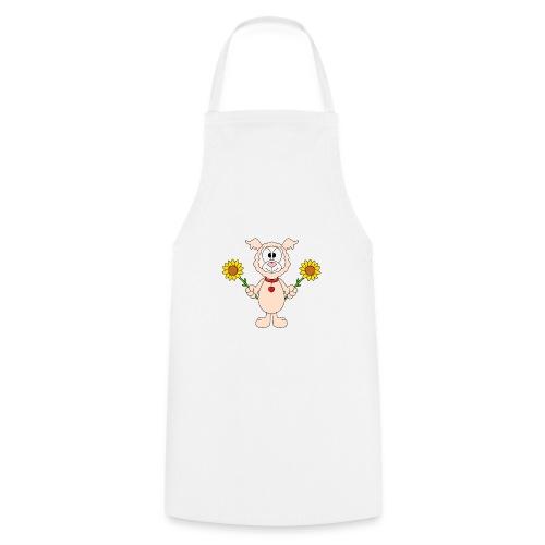 Lama - Alpaka - Sonnenblumen - Tier - Liebe - Kochschürze