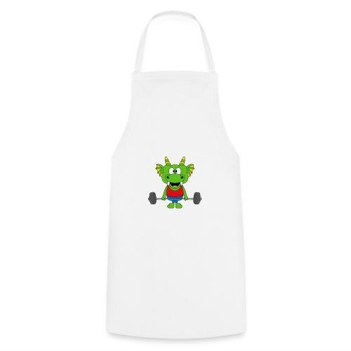 Drache - Dragon - Fitness - Gewichtheber - Sport - Kochschürze
