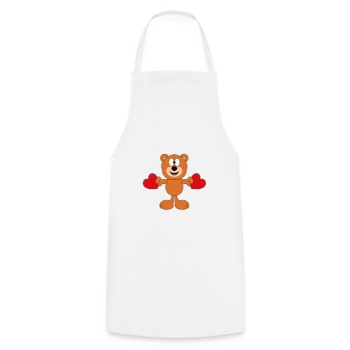 Teddy - Bär - Herzen - Liebe - Love - Tier - Kochschürze