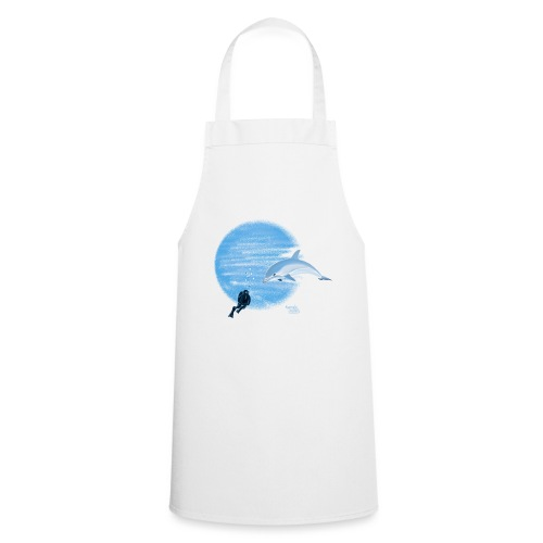 Dolphin and diver - Maillots - Tablier de cuisine