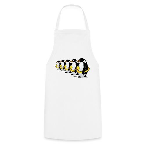 Pinguine mit Quietscheentchen - Kochschürze