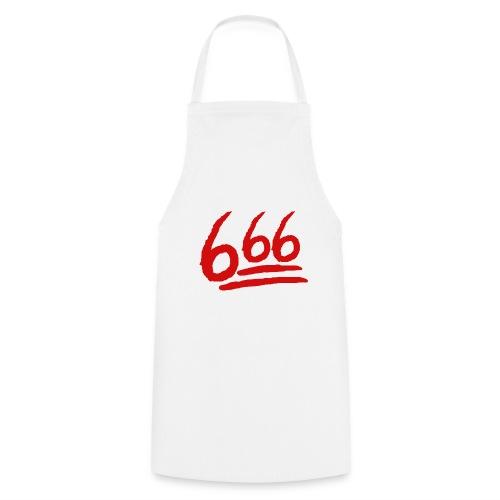 666 playera - Delantal de cocina