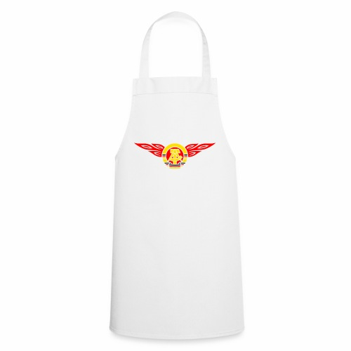 GDR flames crest 3c - Cooking Apron
