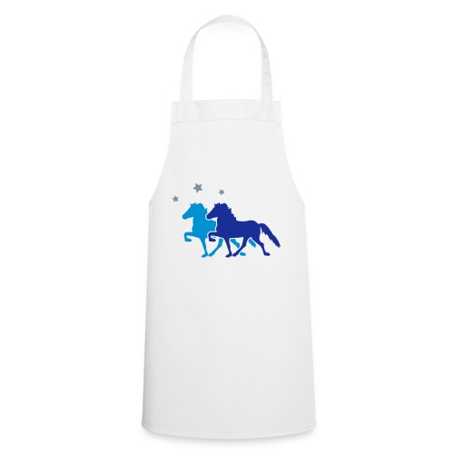 Two Horses with silver-metallic Stars - Cooking Apron